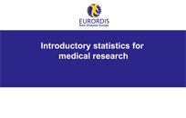 Introductory statistics for medical research